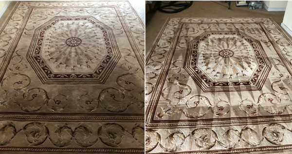 Before & After Wool Area Rug Cleaning in Stockbridge, GA (1)